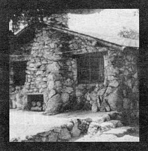 Ed Fletcher Sr.'s first house at Eagle's Nest. The Harper children had camped at Eagle's Nest with the Fletcher children.