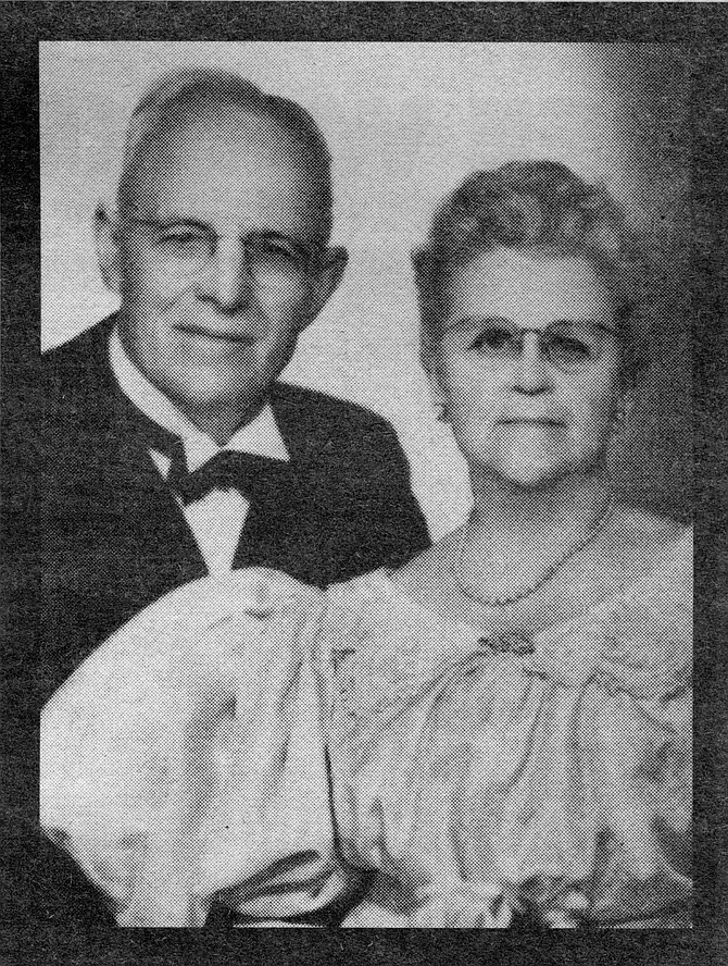 """Mary and Ed Fletcher Sr., 50th wedding anniversary. Ed got Mary to shore and called it """"Another one of the experiences of life where everything comes out all right."""""""