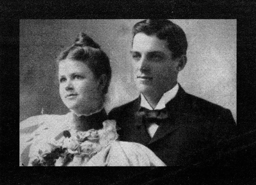 Mary and Ed Sr., wedding day. They were married on April 8,1896, in Ayer, Massachusetts, when Mary was 20 and Ed was 23.