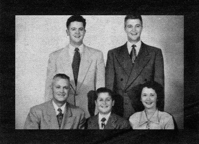 Ed Jr. with wife Mildred and their sons, Edward III, Michael, and Larry