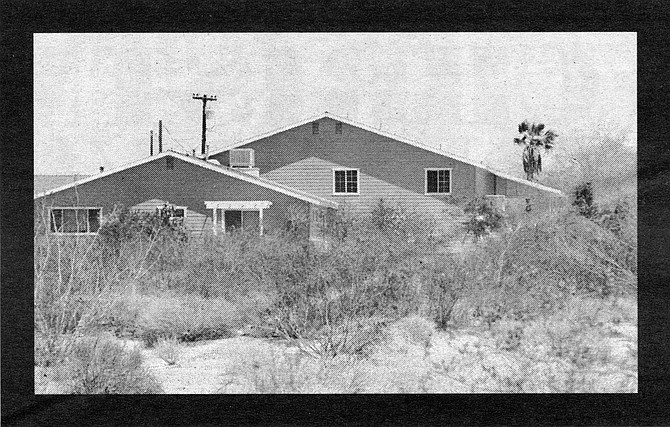Ed III's house at the Borrego Air Ranch. Eric watched his father pace with the gun, waited for a safe moment to enter the house, and discovered the bodies on the kitchen floor.
