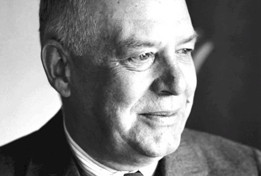 Wallace Stevens. I read about the night in Key West when the drunk and timid Stevens got into a fistfight with Hemingway. The latter left Stevens with a blackened eye and fractured hand.