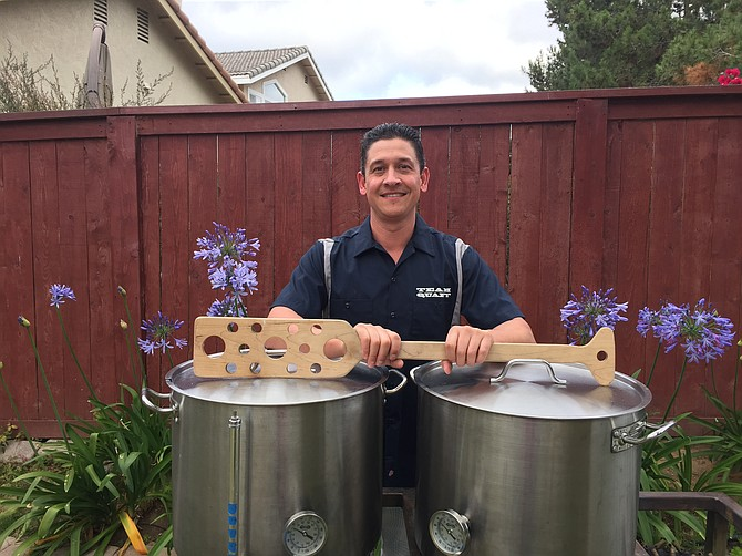 The National Homebrew Competition's 2016 homebrewer of the year, Nick Corona