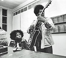 Linda and Sonny Sharrock, 1970, France, photo by Jacques Bisceglia.