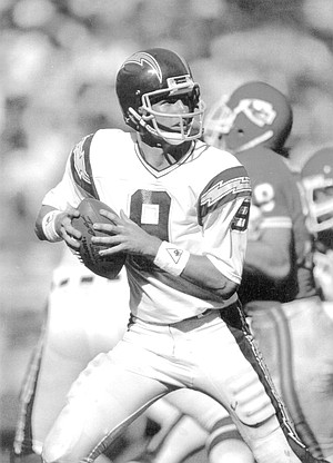 """71c1966731 Mark Hermann. """"I felt very fortunate. Fouts was a Hall of Fame quarterback"""