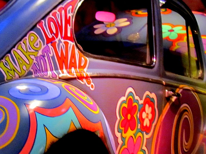 Woodstock era Love Bug on Exhibit at Bethel Woods, New York