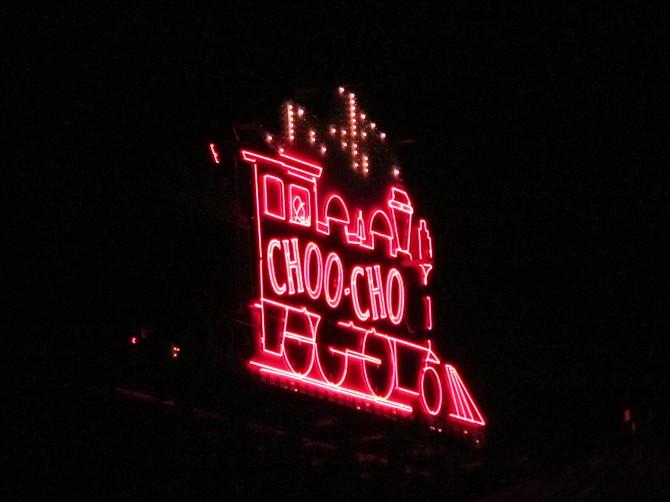 Chattanooga'sneon  ChooChoo sign, TN