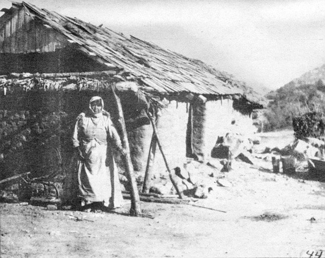 Wycoope at her adobe home; 1909. Even today, in his dealings with modern Indians, May senses the same kind of secrecy that the old Indian talks about.