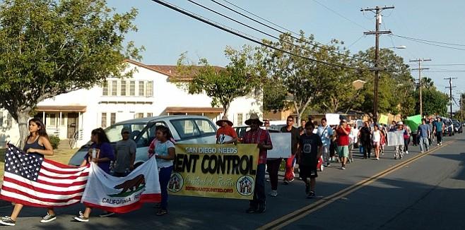 Linda Vista tenants take to the streets