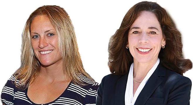 Carlsbad City Council candidate Cori Schumacher; and Mara Elliott, running for San Diego city attorney