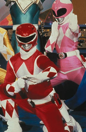 Red Ranger vs. Pink Ranger — who could choose?