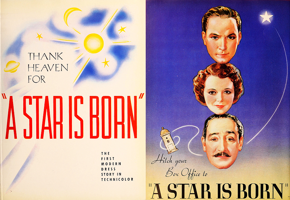 Trade advertisement for the first officially titled remake of A Star Is Born.  The Film Daily, April 8, 1937.