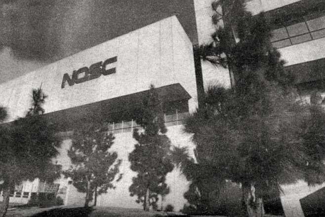 In 1977 the Naval Electronics Lab was merged with the Naval Undersea Center, which was located at the foot of Point Loma beside the Ballast Point submarine base, and the two became the Naval Ocean Systems Center (NOSC).