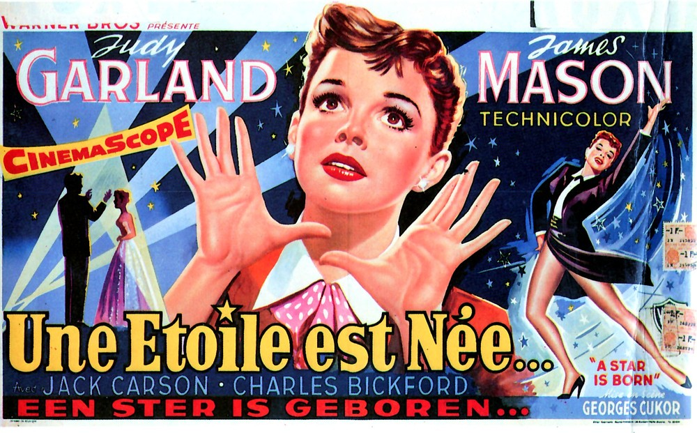 Stunning Belgian poster art for the 1954 Judy Garland, George Cukor version of A Star Is Born.