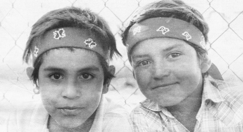 Indian children, San Antonio Necua. The Indians often have married women descended from the Russian pacifists.