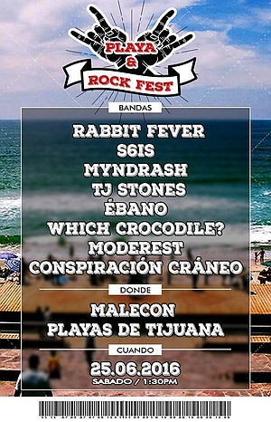 Playa & Rock Fest show poster
