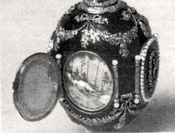 """Caucasus Egg, 1893.  """"Many ... are very beautiful, indeed, while others, to put it charitably, are quite strange."""""""
