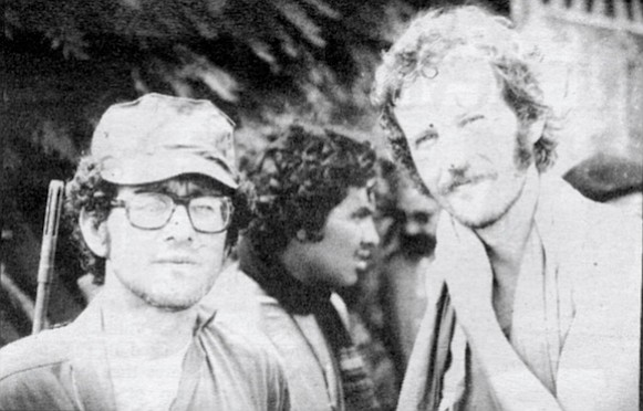 MacRenato with Alex Drehsler, former San Diego Union reporter, in Nicaragua, 1979