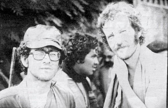 MacRenato with Alex Drehsler, former San Diego Union reporter, in Nicaragua, 1979