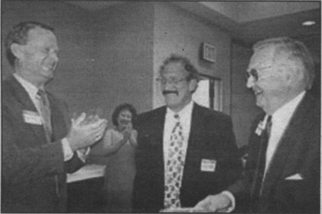 James Neal Blue (left), a Yale graduate and ex-Air Force pilot, is General Atomic's president and chairman of the board,