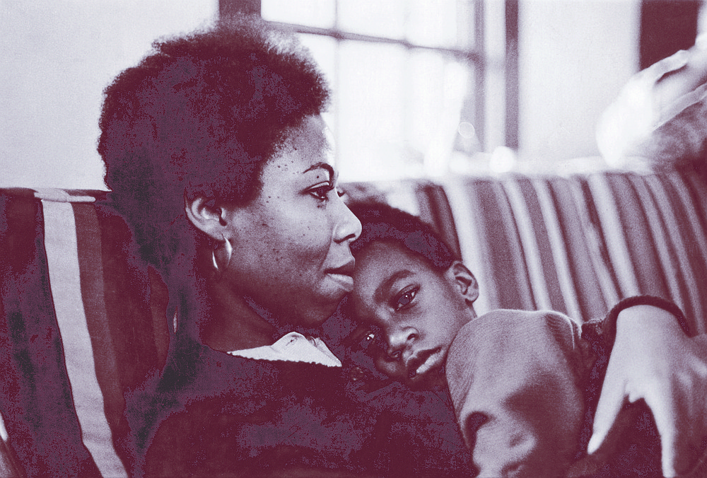 """Sherley Anne Williams and son Malcolm, c. 1973. Sherley had showed up for her UCSD interview with Malcolm, then three years old. """"Sherley's willingness to go it alone was a part of her character."""""""