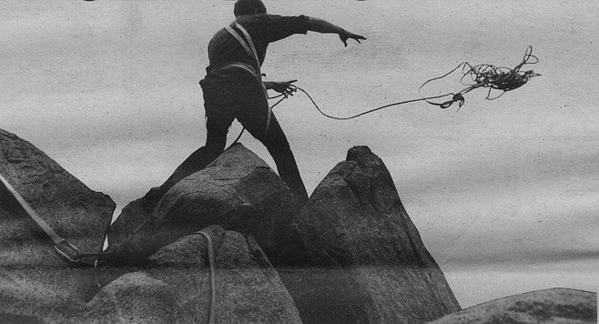 Harlan climbing Tahquitz Rock