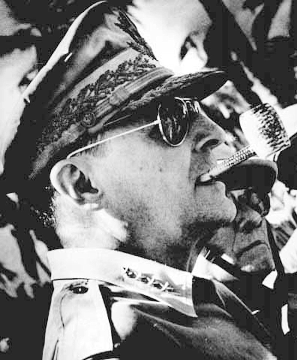 "General MacArthur. ""Ghengis Khan once wrote: 'No one can win a winter war in the land of the Mongols.' MacArthur must have cut that history class at West Point."""