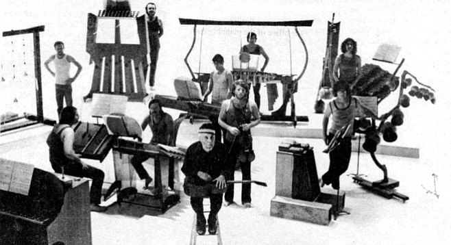Harry Partch had a special affection for the Marimba Eroica, four Sitka spruce bars attached to the tops of four slender, boxlike resonators.