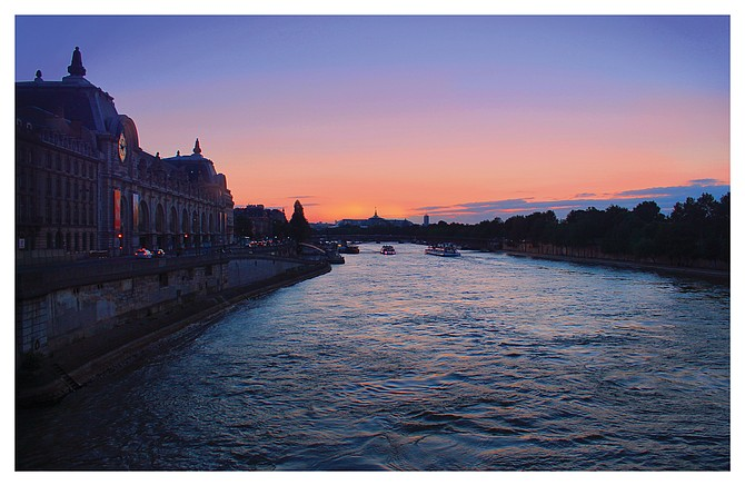 Summertime sunset in Paris