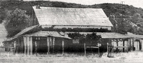 Butterfield stage station at Warner's Ranch, c. 1938. The ranch is the northernmost point in the county to which Remeika has been able to trace the original track of the Butterfield stage.
