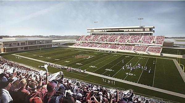Artist's sketch of $58 million Katy (Texas) football stadium