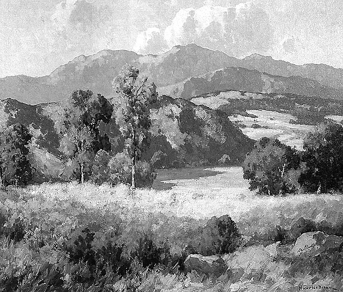 "San Diego's early landscape painters— Maurice Braun and Charles A. Fries — got labeled the ""Eucalyptus School."" - Image by Maurice Braun"