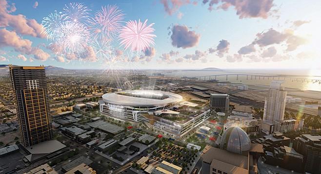 Image of proposed San Diego convadium