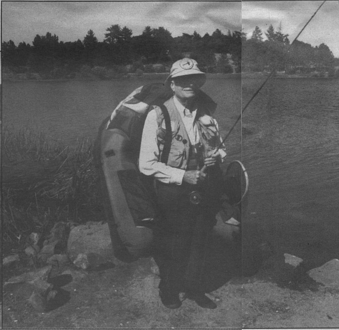Ansul Watrous ready to fish - Image by Byron Pepper