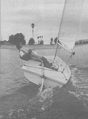 Evan Douglas. Sailing on South Bay several weeks ago in a stiff breeze with minimal surface chop, I put the Laser up on a fast plane, which seemed to last an eternity. There I was, tearing along at incredible speed and laughing my head off.