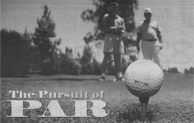 """Jeff Cooper and John Logan, Rancho Bernardo Inn. """"You can have 17 bad holes and one great hole, and that's the one you remember."""" - Image by Joe Klein"""