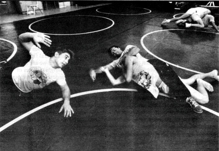 "One Poway grapplerette who has a boyfriend on the team said she made the mistake of walking into the wrestling room one day when practice was in session. ""Coach made everybody stop wrestling until I left."""