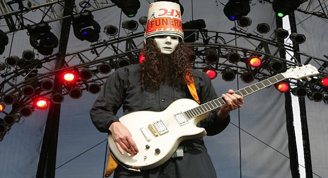 With 264 albums to his credit, Buckethead played whatever he wanted, and the diehard fans devoured every minute.
