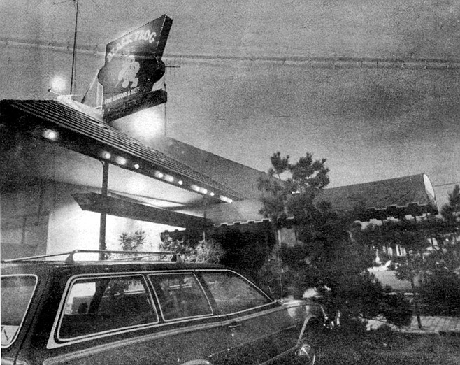 Restaurants don't do well in Southeast, where dining out is a picture-taking occasion. All the more surprising, then, was the Black Frog's success when it opened in 1978 with a menu of prime rib and fish, catering to class.