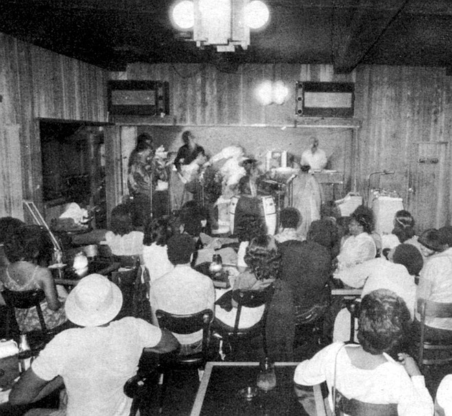 The main business is in live music and disco, resembling the other clubs in Southeast: Cynd's, the Oasis, and the busiest of them all, the Veterans of Foreign Wars Post 5179 on South Forty-third Street,