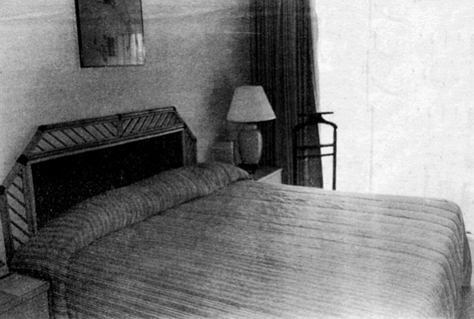 Mr. Rothenberg: Here is a picture of my room, which I said is just fine even if it is not much compared to Mrs. R's room. The bed is big enough. --Borokowski