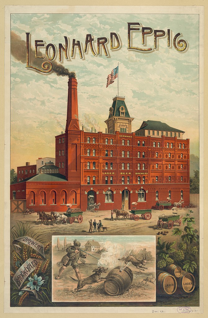 A poster for the historic Eppig Germania Brewery