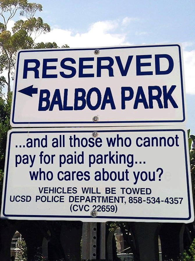 Will museum volunteers have to pay for parking and will families with limited means be able to afford parking? (photo courtesy of Balboa Park Heritage Association)