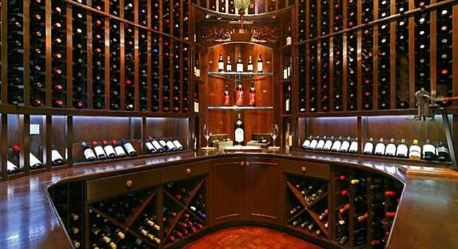 The wine cellar. A tasting room is next door.