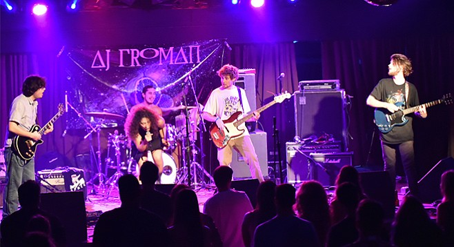 AJ Froman breaks the reggae and Deadhead mold of beach bands, playing fast-paced progressive rock, à la Zappa and King Crimson.