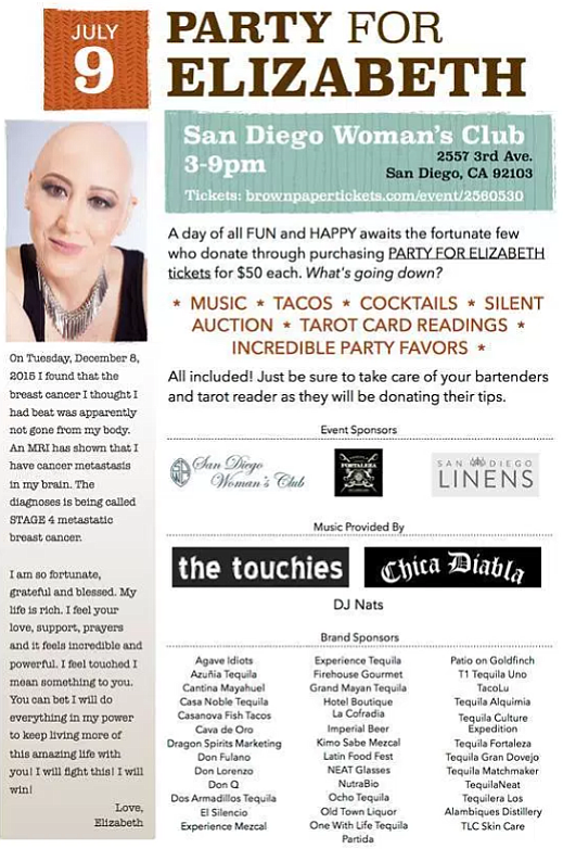 Fundraiser for Elizabeth B. at San Diego Woman's Club, July 9, 2016