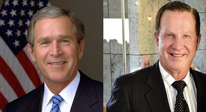 George W. Bush and former U-T owner Douglas Manchester