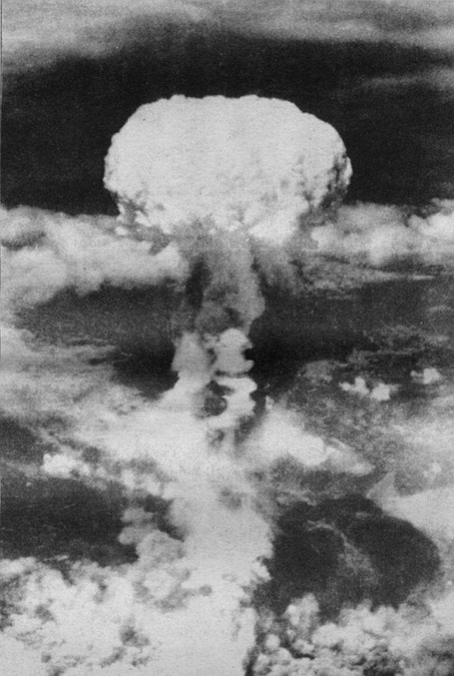 """Hiroshima, August 6, 1945. """"The following day I got my first look at the photographs of Hiroshima. A huge circle, approximately 4000 yards across, had been etched into the city."""""""