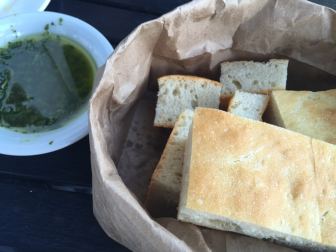 Focaccia and olive oil start every meal