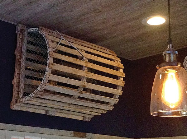 Traditional Maine lobster pot: the smart lobsters eat the bait and figure out an escape